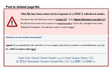 DMCA Notice on Website