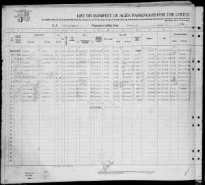 Immigration Record